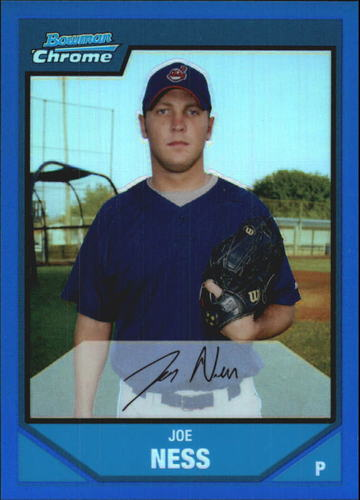 Photo of 2007 Bowman Chrome Prospects Blue Refractors #BC113 Joe Ness