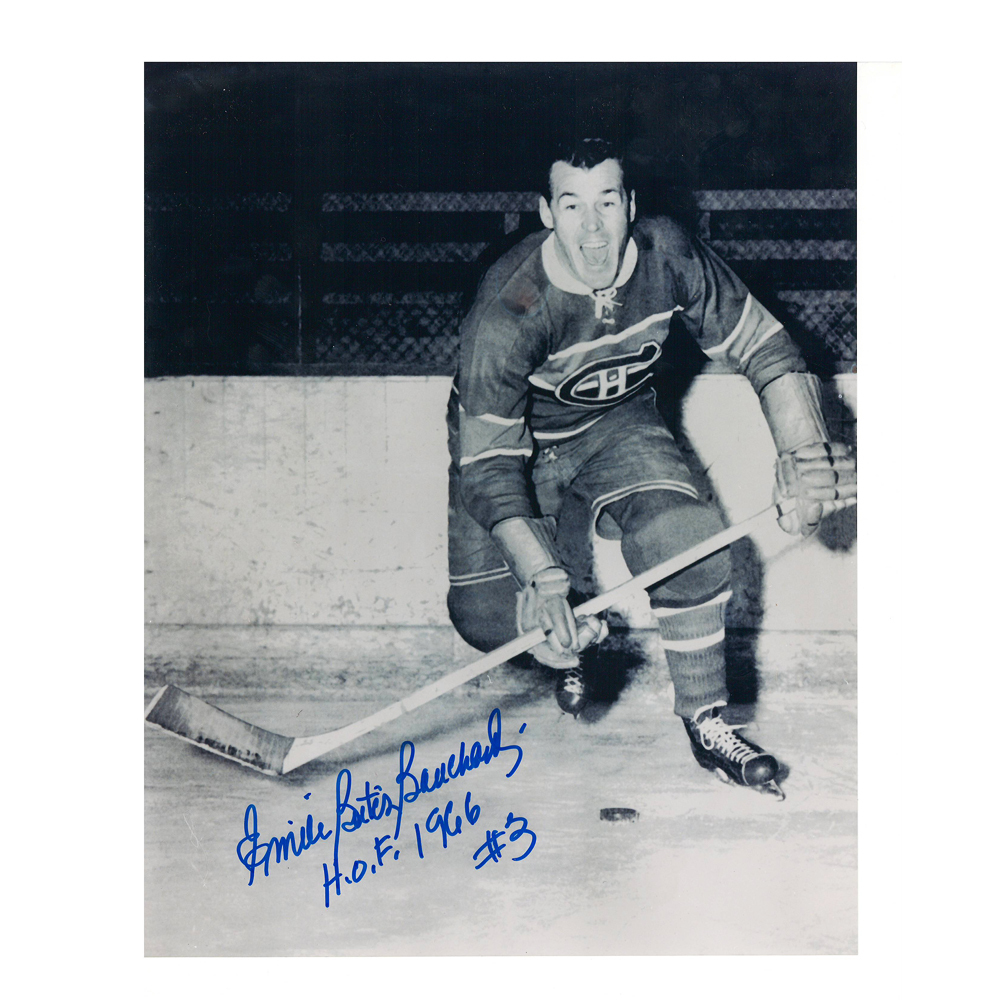 EMILE BOUCHARD Signed Montreal Canadiens 8 X 10 Photo - 70098