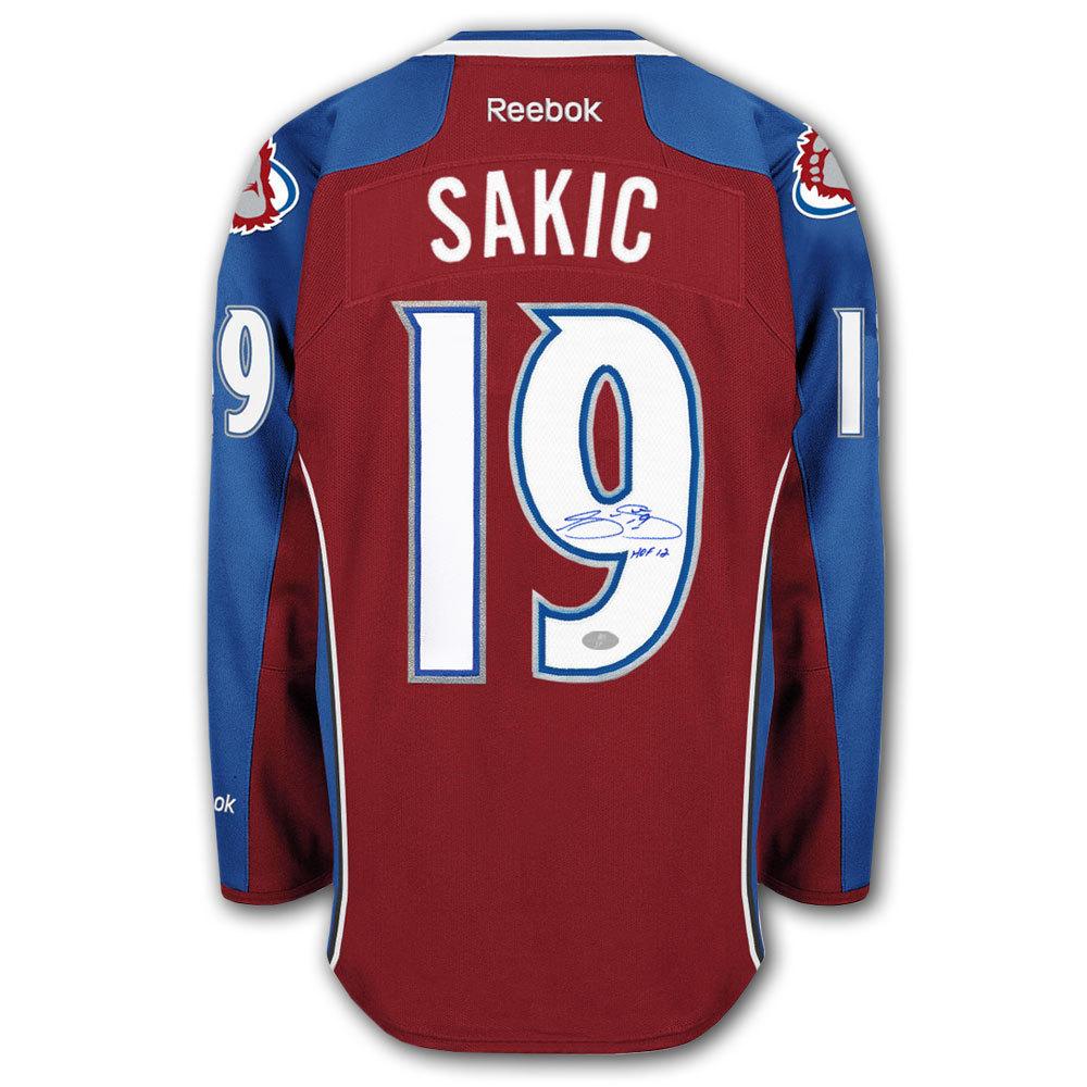 Joe Sakic Colorado Avalanche HOF RBK Premier Autographed Jersey