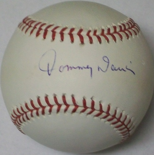 Photo of Tommy Davis Autographed Baseball