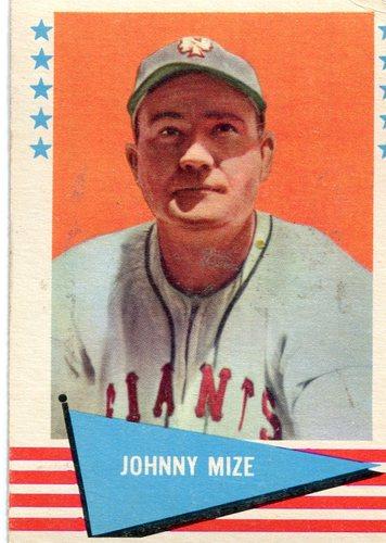 Photo of 1961 Fleer #63 Johnny Mize