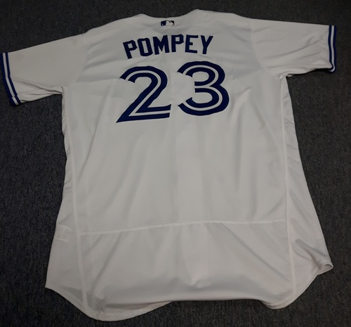 Photo of Authenticated Team Issued Jersey - #23 Dalton Pompey (2017 Season). Size 48.
