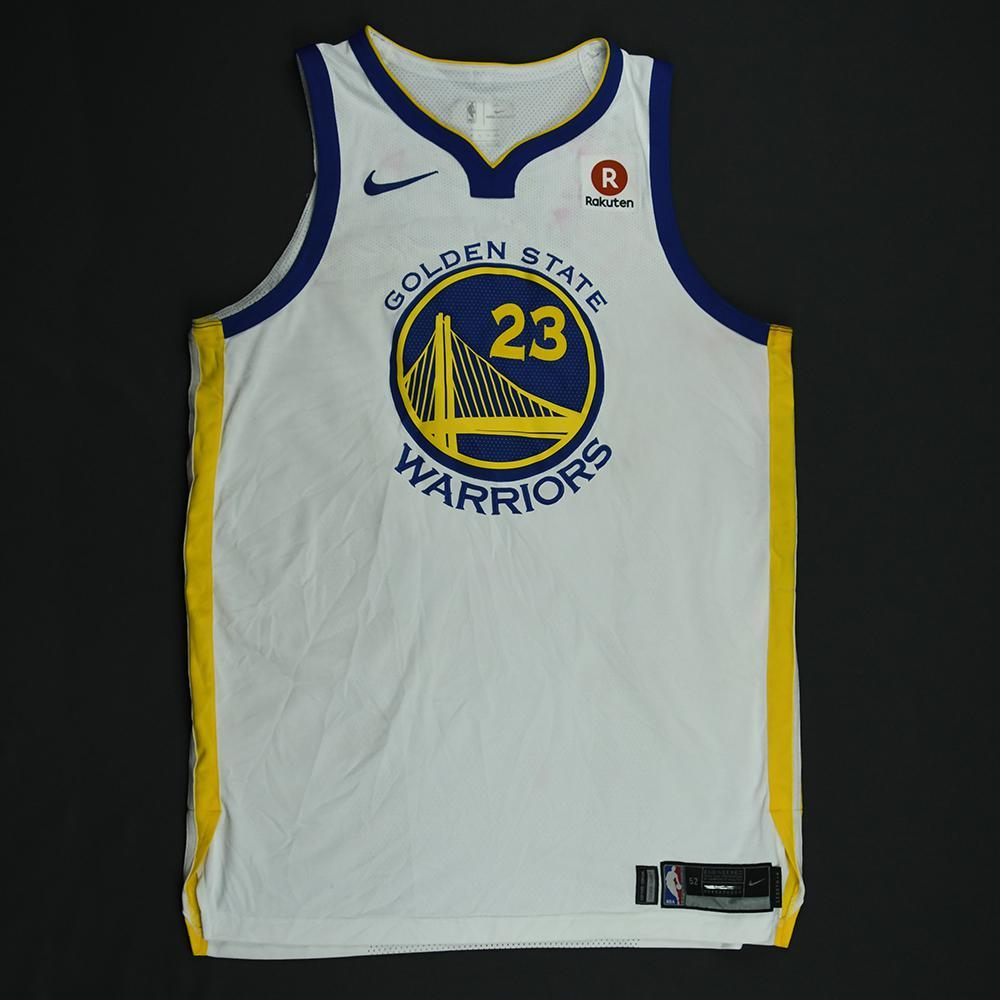 Draymond Green - Golden State Warriors - 2018 NBA Finals - Game 1 - Game-Worn White Jersey - Double-Double