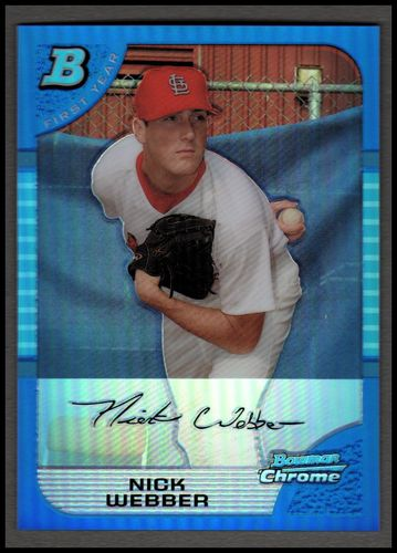 Photo of 2005 Bowman Chrome Draft Blue Refractors #38 Nick Webber FY