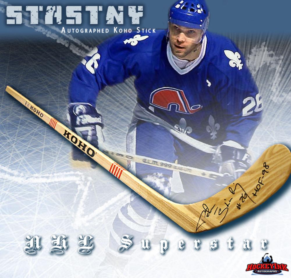 PETER STASTNY Signed Koho Stick - Quebec Nordiques