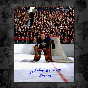 Johnny Bower Toronto Maple Leafs HOF Autographed 8x10