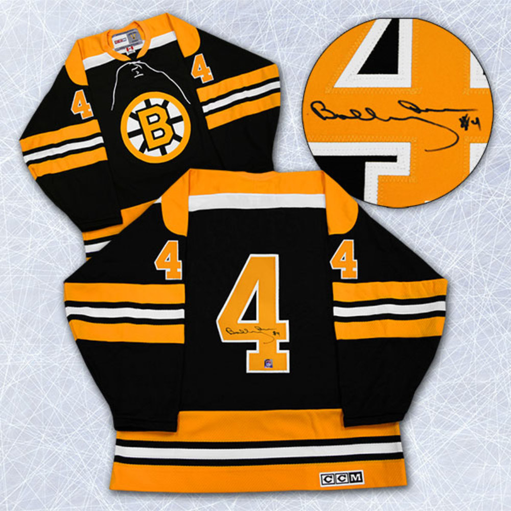 Bobby Orr Boston Bruins Autographed Black Retro CCM Jersey: GNR COA