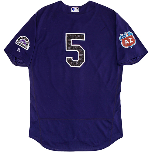 Photo of Colorado Rockies Spring Training Jersey - Carlos Gonzalez