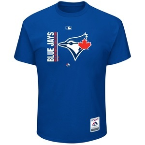 Toronto Blue Jays Big & Tall Authentic Collection Icon T-Shirt by Majestic