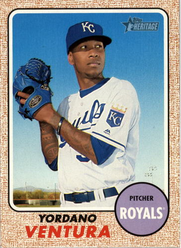 Photo of 2017 Topps Heritage #307 Yordano Ventura