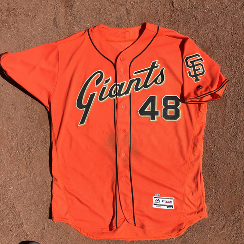 Photo of San Francisco Giants - 2017 Game-Used Jersey - Pablo Sandoval - worn on 9/29 - 2 for 4, RBI (size 52)