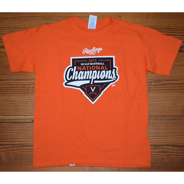 University of Virginia Baseball 2015 National Championship T-Shirt - Size YS
