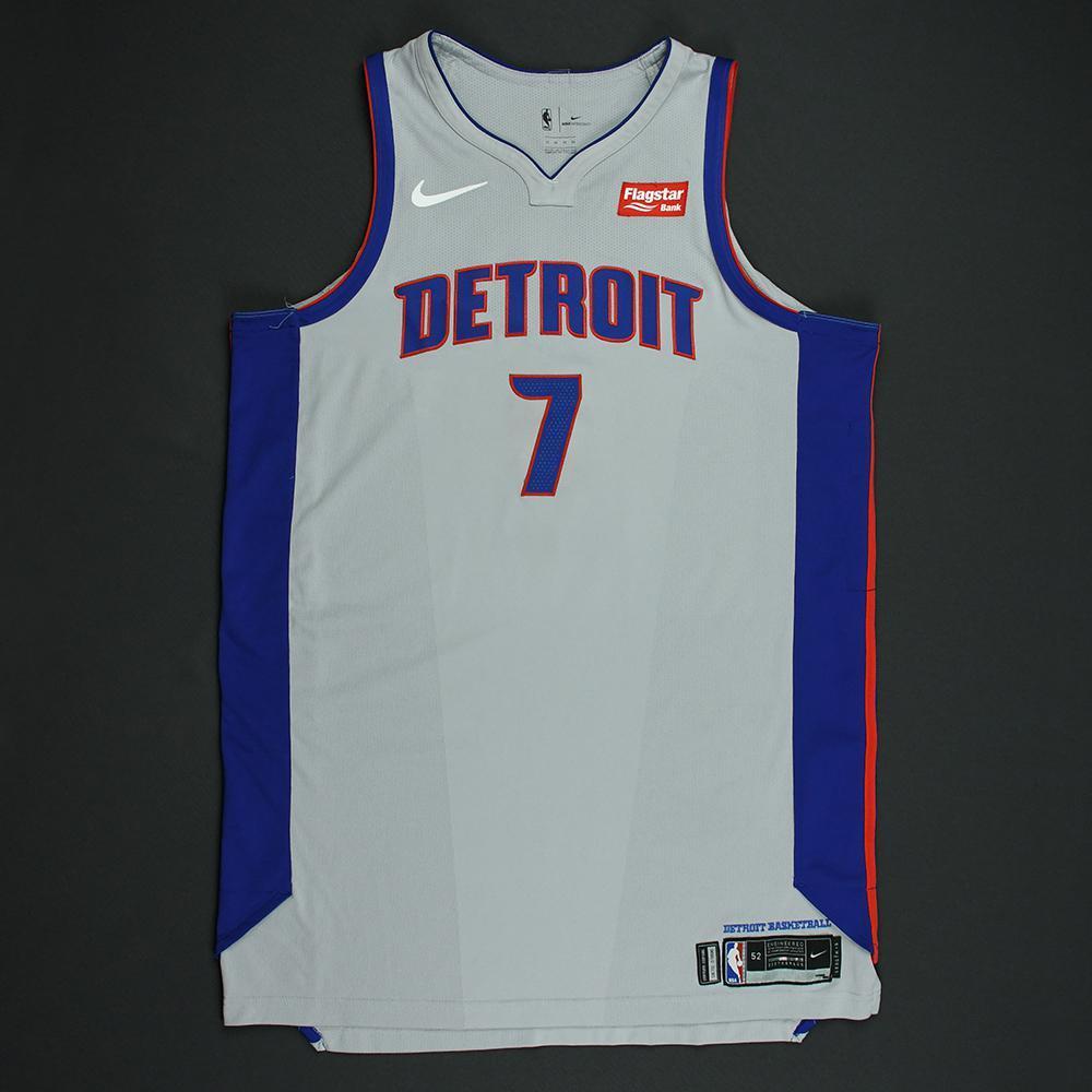 Stanley Johnson - Detroit Pistons - Statement Game-Worn Jersey  - 2017-18 Season