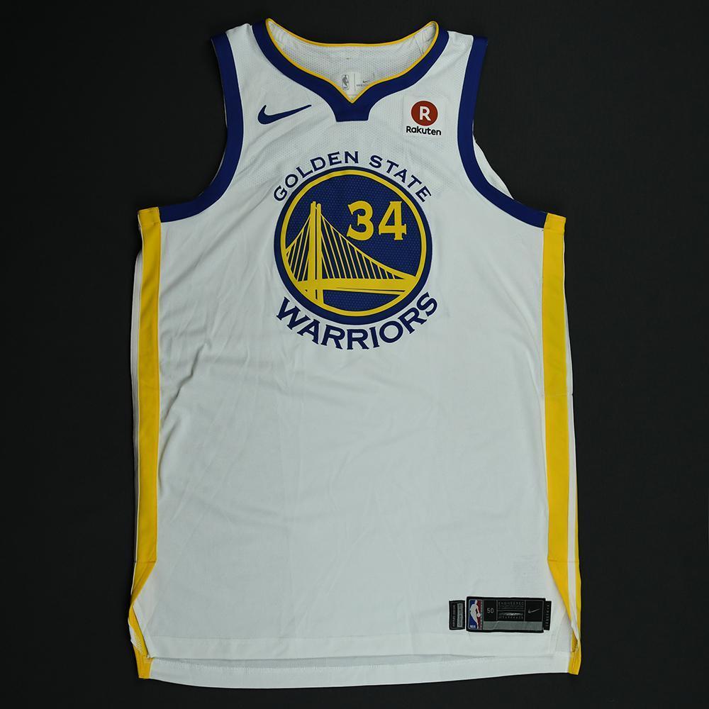 Shaun Livingston - Golden State Warriors - 2018 NBA Finals - Game 1 - Game-Worn White Jersey