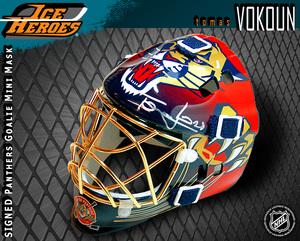 TOMAS VOKOUN Signed Florida Panthers Mini Mask