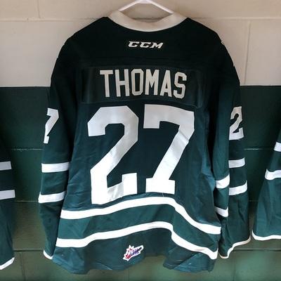 Robert Thomas 2016-2017 Green Game Jersey