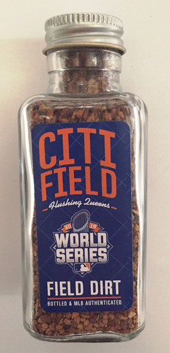 Photo of 2015 World Series Game-Used Dirt Jar - Citi Field Game 3