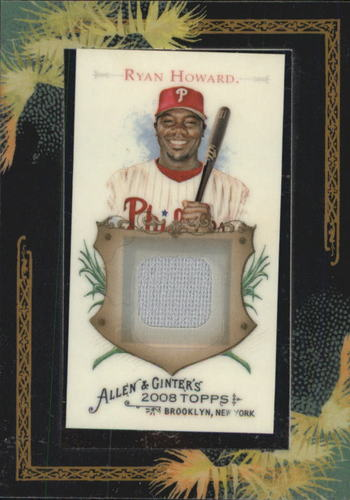 Photo of 2008 Topps Allen and Ginter Relics #RH Ryan Howard Jsy C