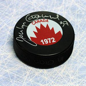 Jocelyn Guevremont 1972 Team Canada Autographed Hockey Puck