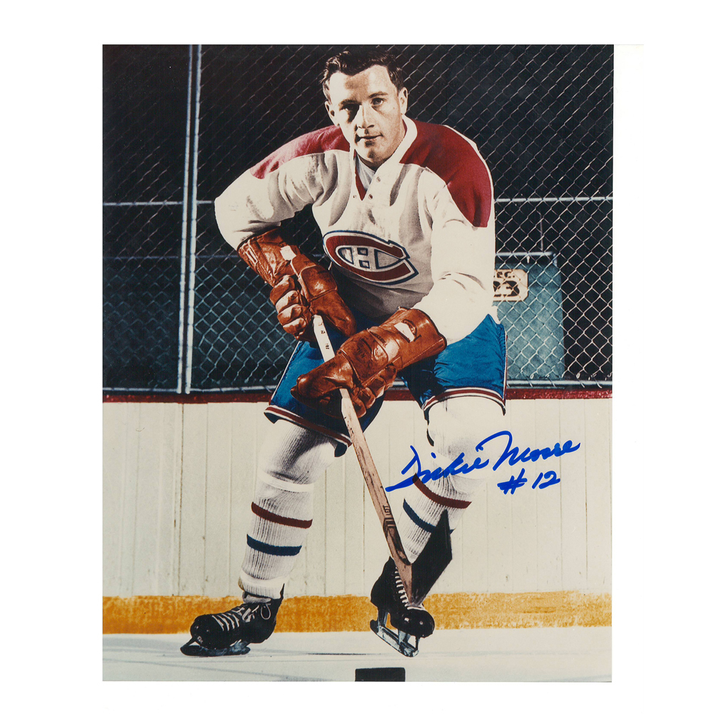 DICKIE MOORE Signed Montreal Canadiens Vintage 8 X 10 Photo - 70101