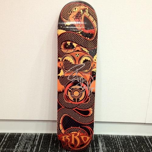 Randy Orton SIGNED Skateboard Deck