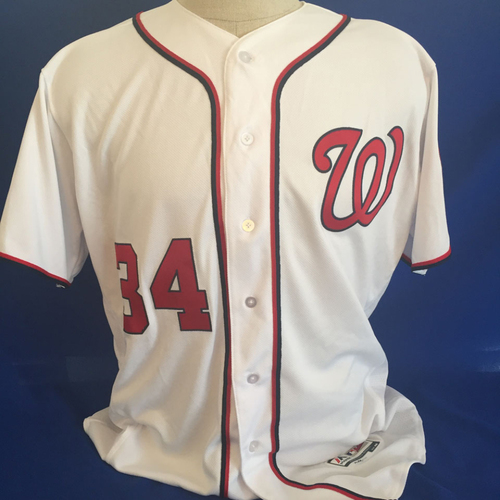 Photo of UMPS CARE AUCTION: Bryce Harper Nationals Jersey Size 48