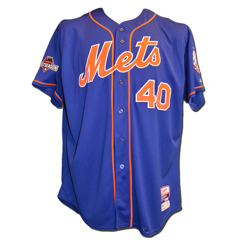 Bartolo Colon #40 - Worn During 2015 Postseason - NLDS Game 3; 2 IP, 3 K - NLCS Games 1 and 2 - Game Used Blue Alternate Home Jersey - 2015 Postseason