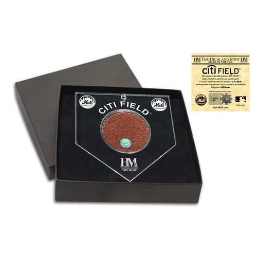 Photo of New York Mets Homeplate Ornament - Features Game Used Dirt from Citi Field