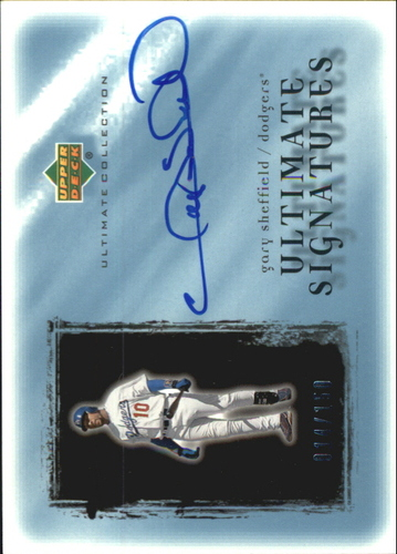 Photo of 2001 Ultimate Collection Signatures #GS Gary Sheffield