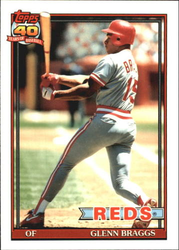 Photo of 1991 Topps Tiffany #444 Glenn Braggs
