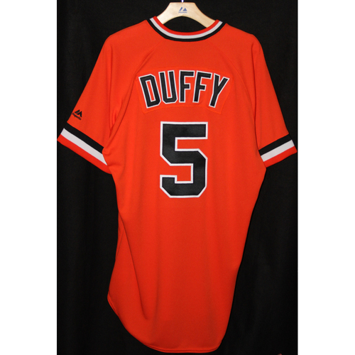 Photo of #5 Matt Duffy's Game-Used Turn Back the Clock Retro Jersey -  All Proceeds Benefit the Pulse Victim Fund