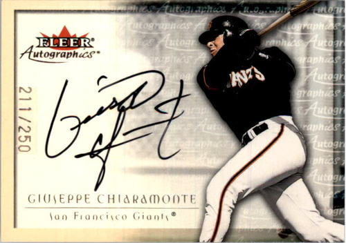 Photo of 2001 Fleer Autographics Silver #20 Giuseppe Chiaramonte