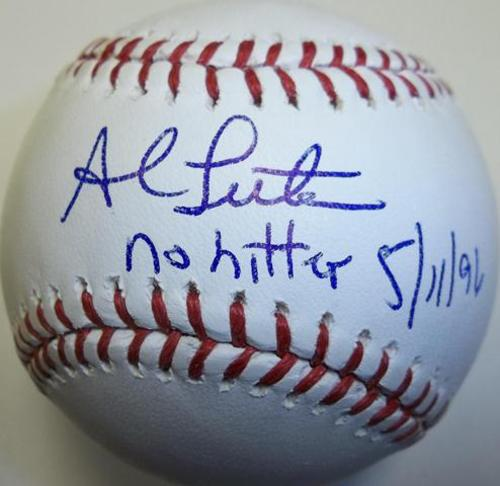 "Photo of Al Leiter ""No Hitter 5/11/96"" Autographed Baseball"