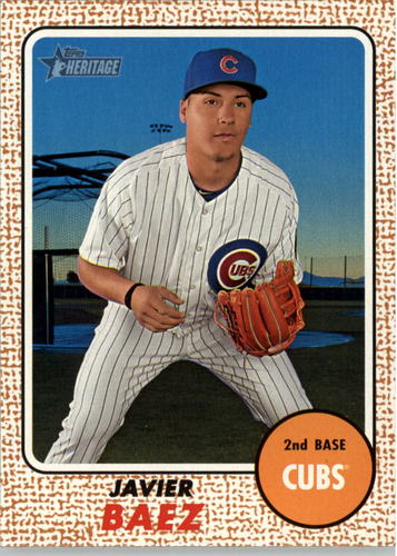 Photo of 2017 Topps Heritage #97 Javier Baez Cubs post-season