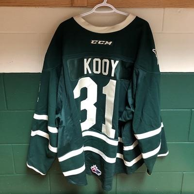Jordan Kooy 2016-2017 Green Game Jersey