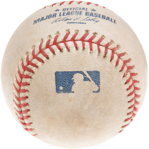 Photo of Game-Used Baseball from Trevor Hoffman's 511th Career Save Game
