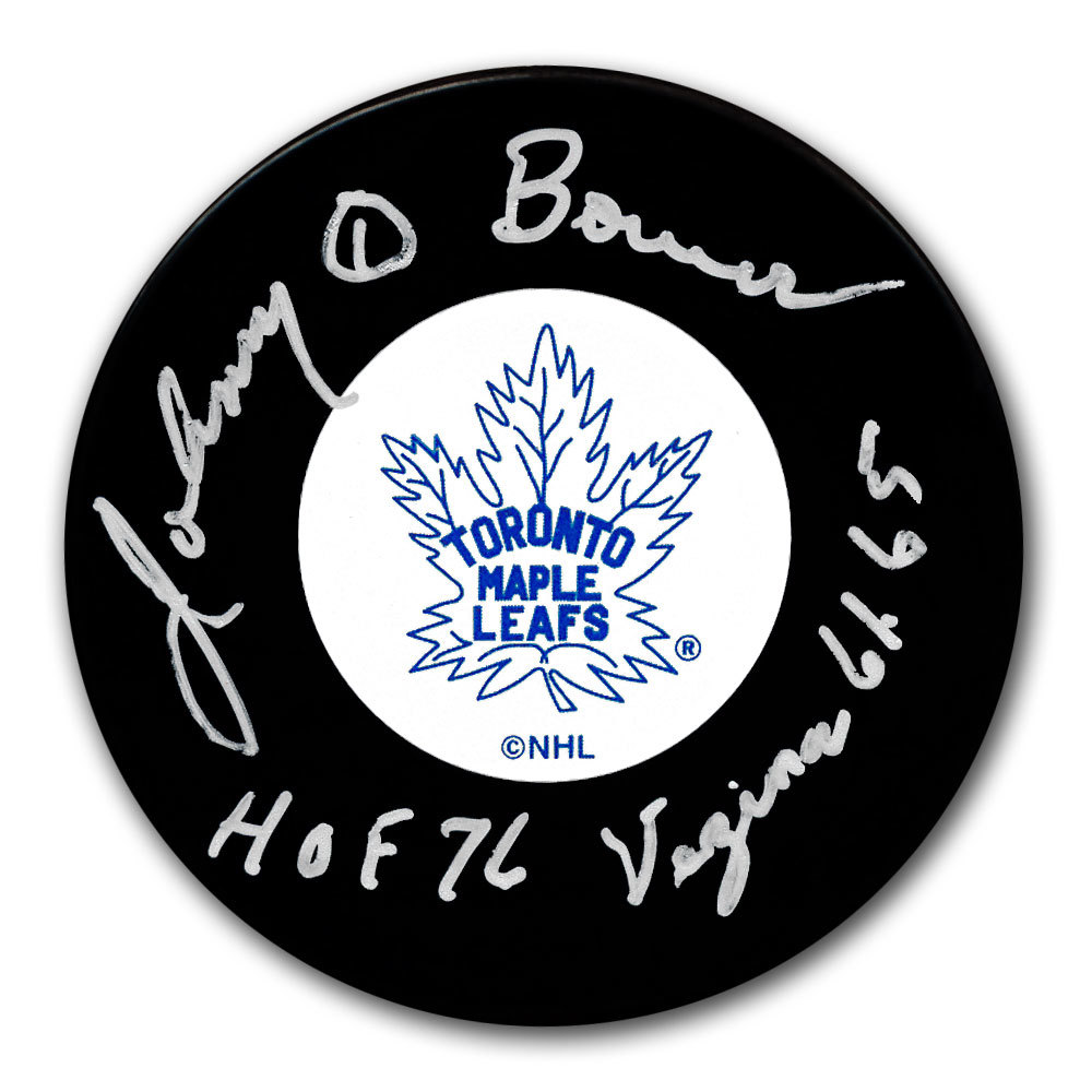 Johnny Bower 2017 Centennial Classic Autographed Puck Toronto Maple Leafs