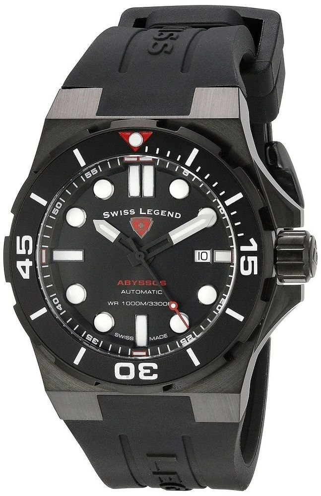 Swiss Legend Abyssos 2.0 Automatic Swiss Made Men's Diver Watch All Black