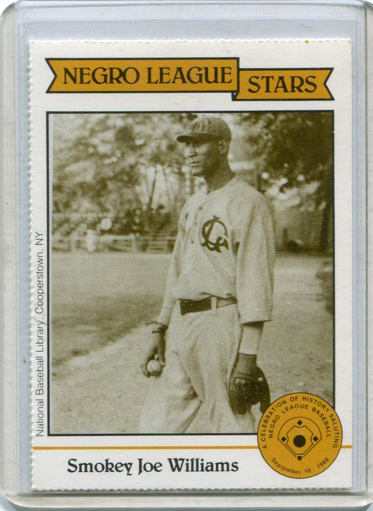 1988 Negro League Duquesne Light Co. #8 Smokey Joe Williams