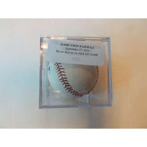 Photo of Game-Used Baseball: Byron Buxton 1st MLB Home Run Game