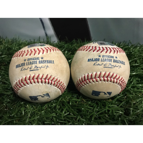 Photo of Game-Used Baseball: Kendrys Morales and Justin Smoak
