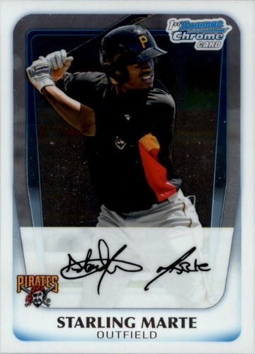 Photo of 2011 Bowman Chrome Prospects #BCP178 Starling Marte Pre-rookie Card
