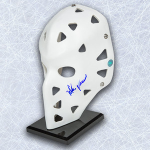 Mike Vernon Autographed Full Size White Goalie Mask - Calgary Flames