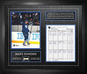 Mats Sundin - Framed Scoresheet, Photo & Net Maple Leafs All-Time Scoring Leader