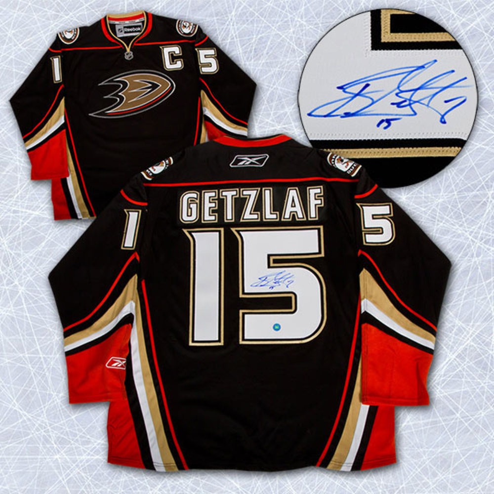 RYAN GETZLAF Anaheim Ducks SIGNED NHL Premier Hockey Jersey