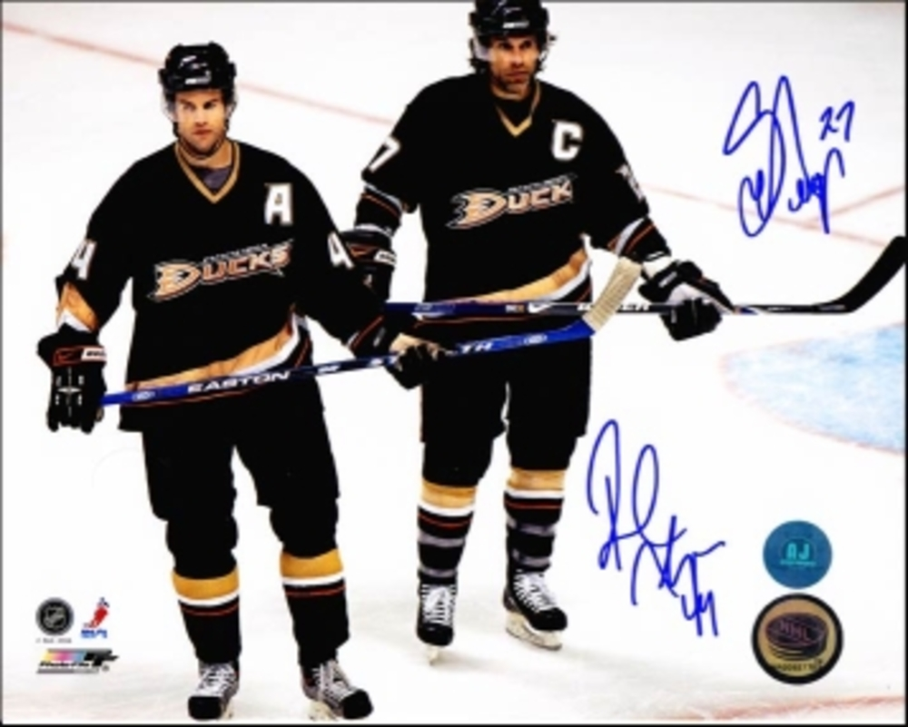 SCOTT & ROB NIEDERMAYER Dual SIGNED 8x10 Photo Ducks Photo