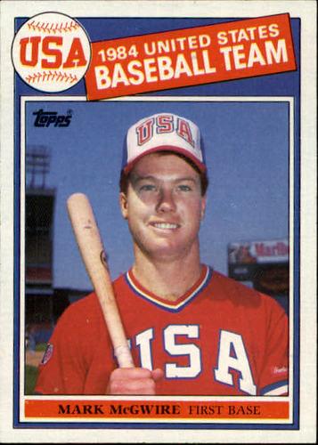 Photo of 1985 Topps #401 Mark McGwire Team USA rookie card