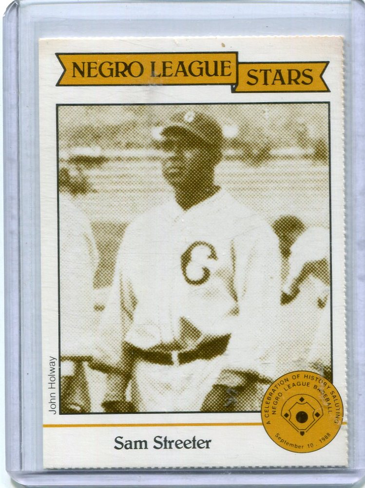 1988 Negro League Duquesne Light Co. #13 Sam Streeter