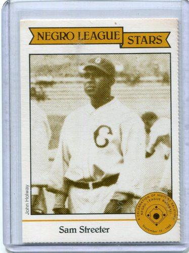 Photo of 1988 Negro League Duquesne Light Co. #13 Sam Streeter
