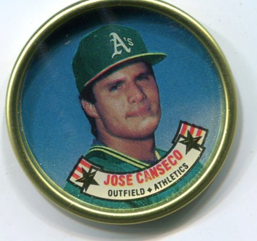 Photo of 1988 Topps Coins #7 Jose Canseco